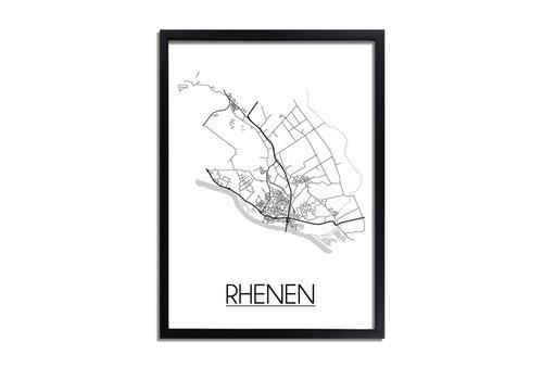 DesignClaud Rhenen Plattegrond poster