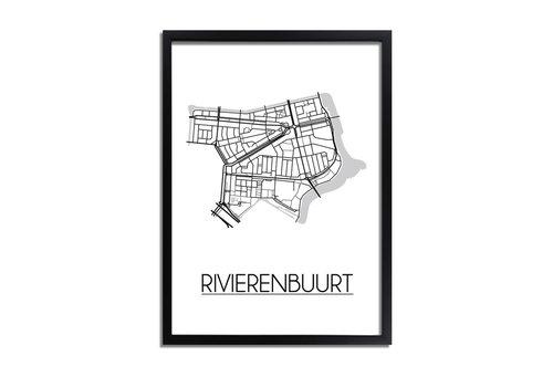 DesignClaud Rivierenbuurt Amsterdam Plattegrond poster