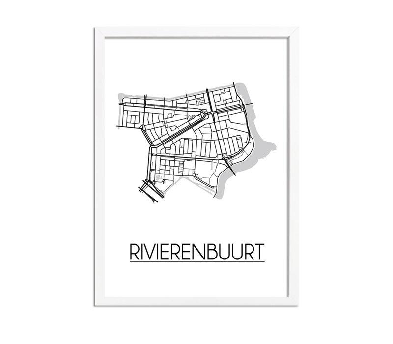Rivierenbuurt Amsterdam Plattegrond poster