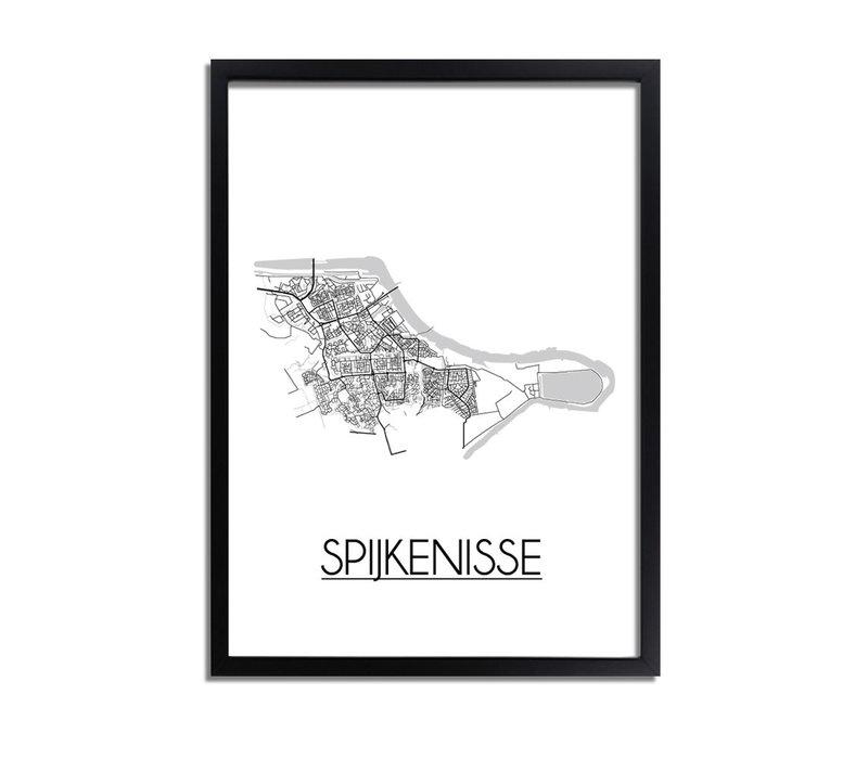 Spijkenisse Plattegrond poster