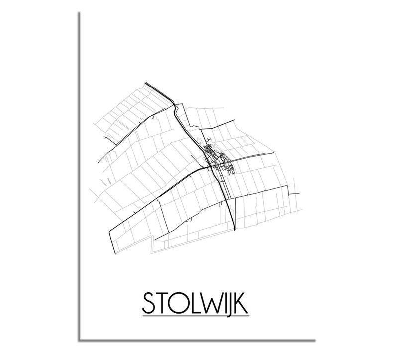 Stolwijk Plattegrond poster