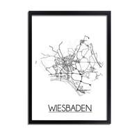 Wiesbaden Duitsland Plattegrond poster