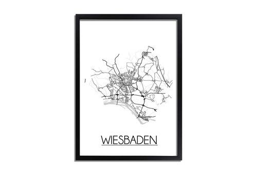 DesignClaud Wiesbaden Duitsland Plattegrond poster
