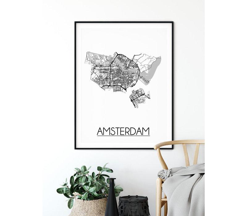 Amsterdam Plattegrond poster