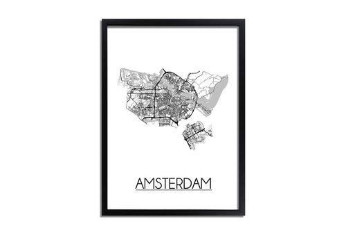 DesignClaud Amsterdam Plattegrond poster