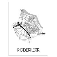 Ridderkerk Plattegrond poster