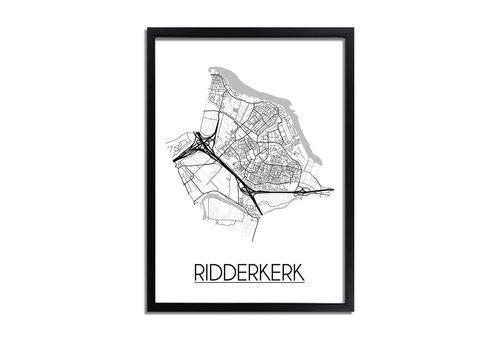 DesignClaud Ridderkerk Plattegrond poster