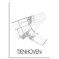 Tienhoven Plattegrond poster