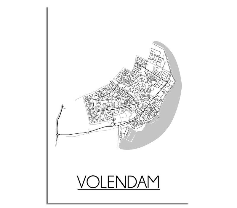 Volendam Plattegrond poster