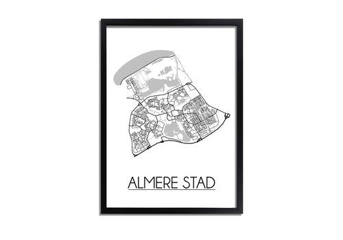 DesignClaud Almere stad Plattegrond poster