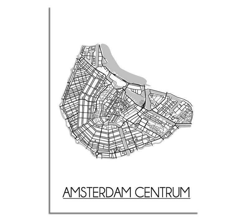 Amsterdam Centrum Plattegrond poster
