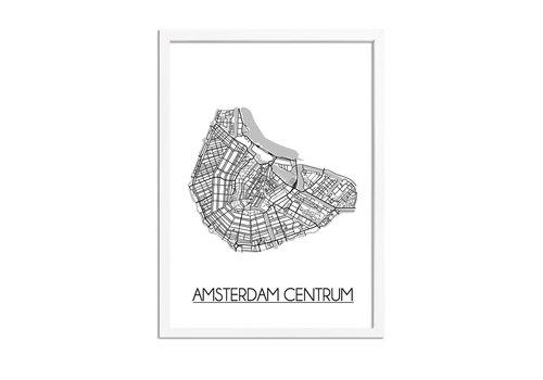 DesignClaud Amsterdam Centrum Plattegrond poster