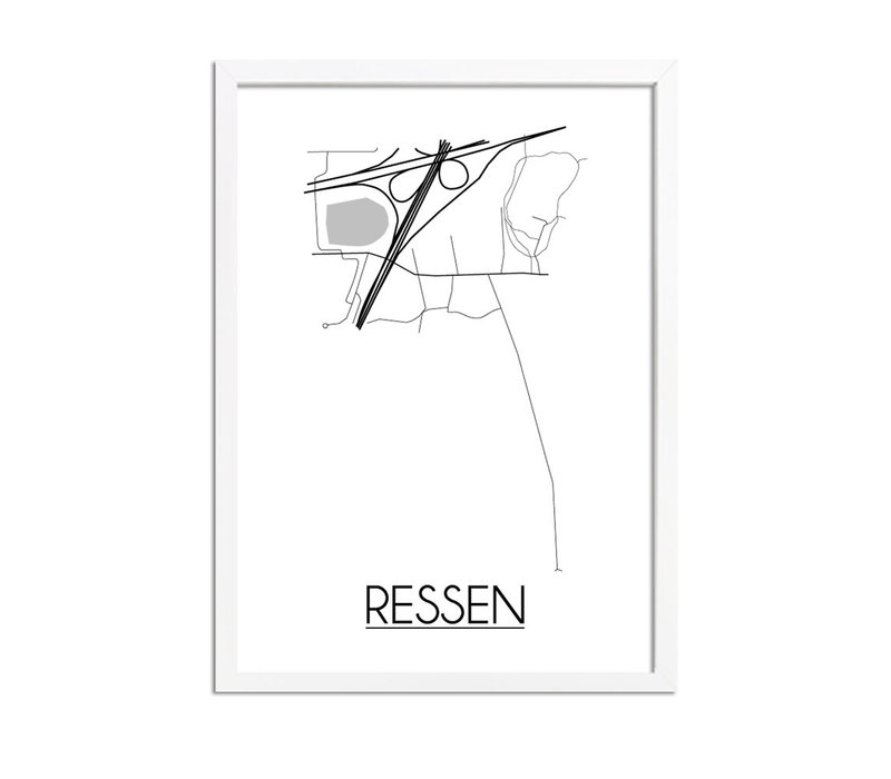 Ressen Plattegrond poster