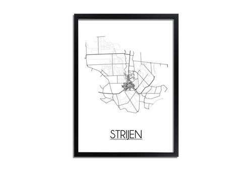 DesignClaud Strijen Plattegrond poster