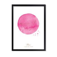 Foliedruk Geboorteposter Sterrenbeeld Roze