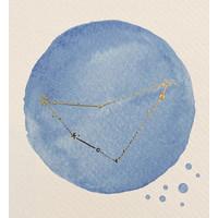 Foliedruk Geboorteposter Sterrenbeeld Helder Blauw