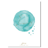 Foliedruk Geboorteposter Sterrenbeeld Blauw