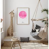 Geboorteposter Sterrenbeeld Roze