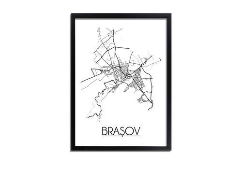DesignClaud Brașov Roemenië Plattegrond poster