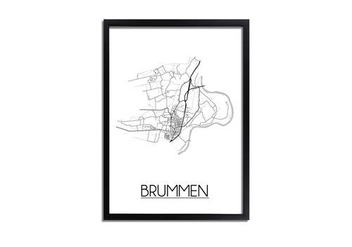 DesignClaud Brummen Plattegrond poster