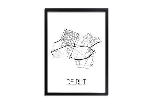 DesignClaud De Bilt Plattegrond poster