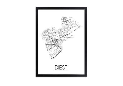 DesignClaud Diest Plattegrond poster