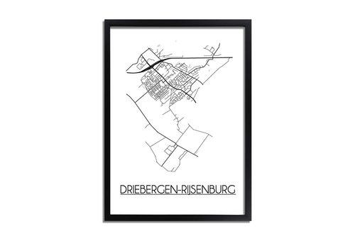DesignClaud Driebergen-Rijsenburg Plattegrond poster