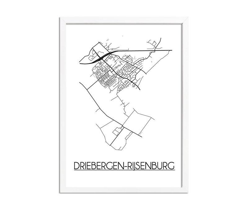 Driebergen-Rijsenburg Plattegrond poster