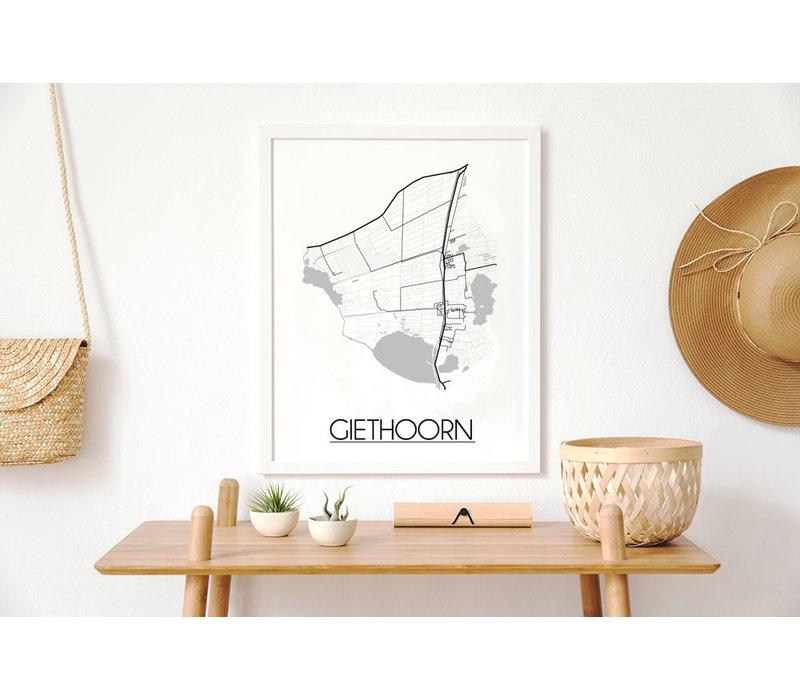Giethoorn Plattegrond poster