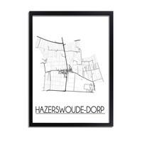 Hazerswoude Dorp Plattegrond poster