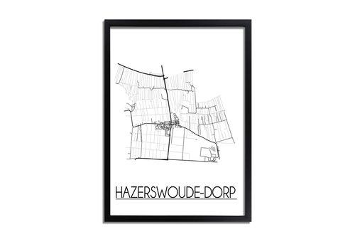 DesignClaud Hazerswoude Dorp Plattegrond poster