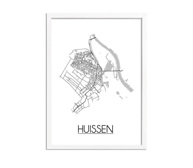 Huissen Plattegrond poster