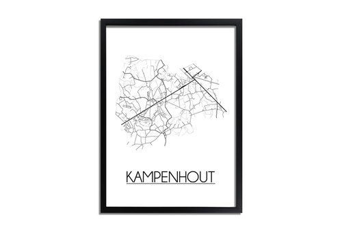 DesignClaud Kampenhout Plattegrond poster