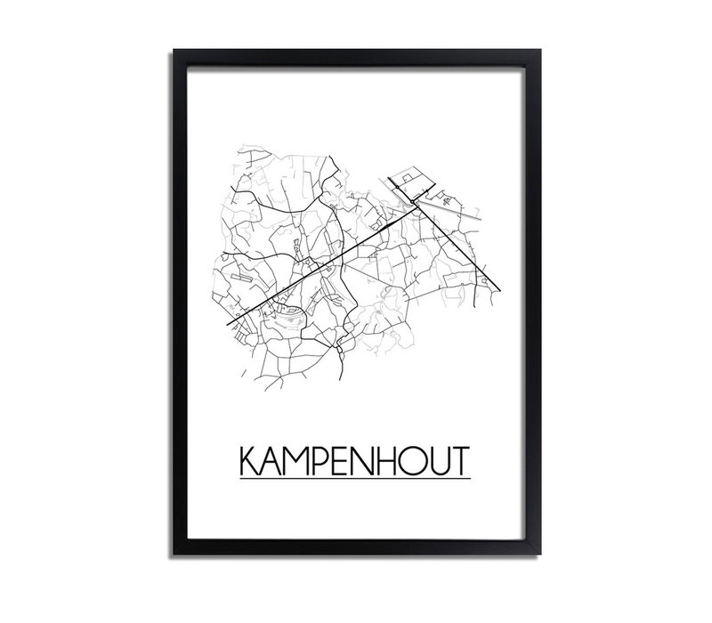 Kampenhout Plattegrond poster