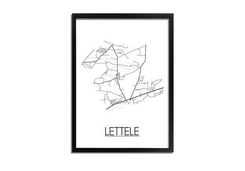 DesignClaud Lettele Plattegrond poster