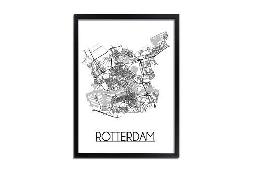 DesignClaud Rotterdam Plattegrond poster