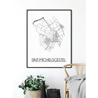 Sint Michielsgestel Plattegrond poster