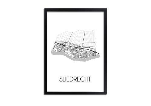 DesignClaud Sliedrecht Plattegrond poster