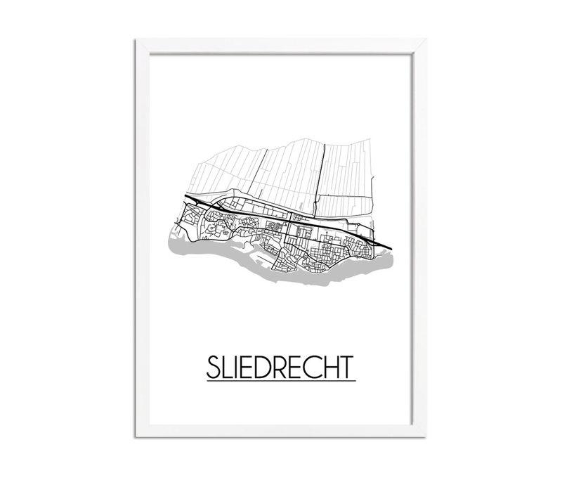Sliedrecht Plattegrond poster