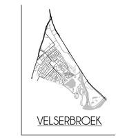 Velserbroek Plattegrond poster