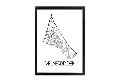 DesignClaud Velserbroek Plattegrond poster