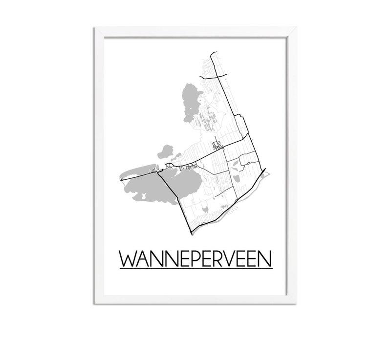 Wanneperveen Plattegrond poster