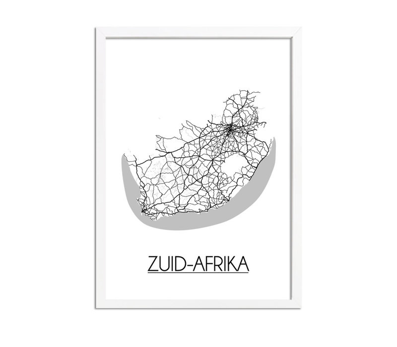 Zuid-Afrika Plattegrond poster