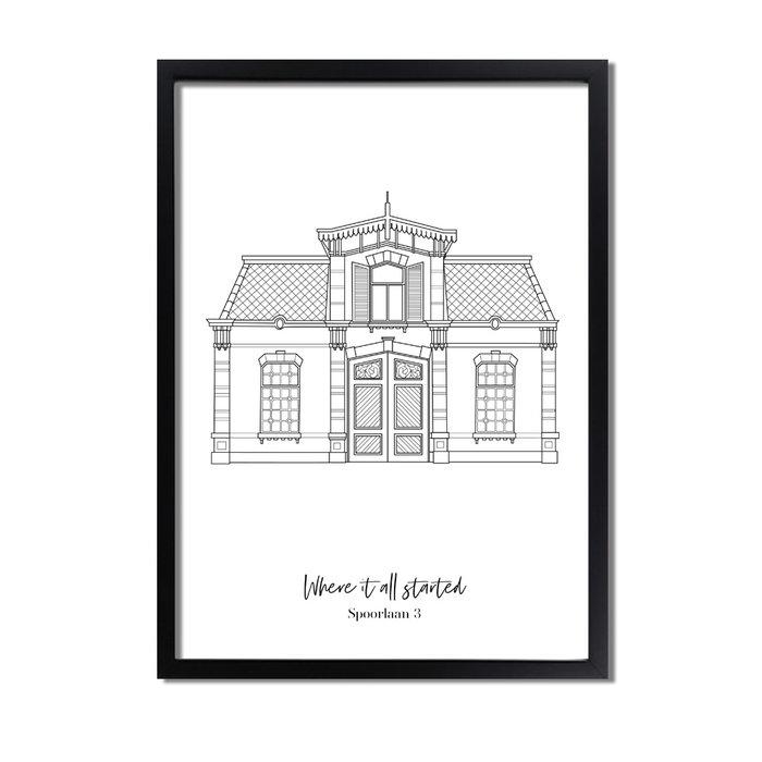 Poster van jouw huis