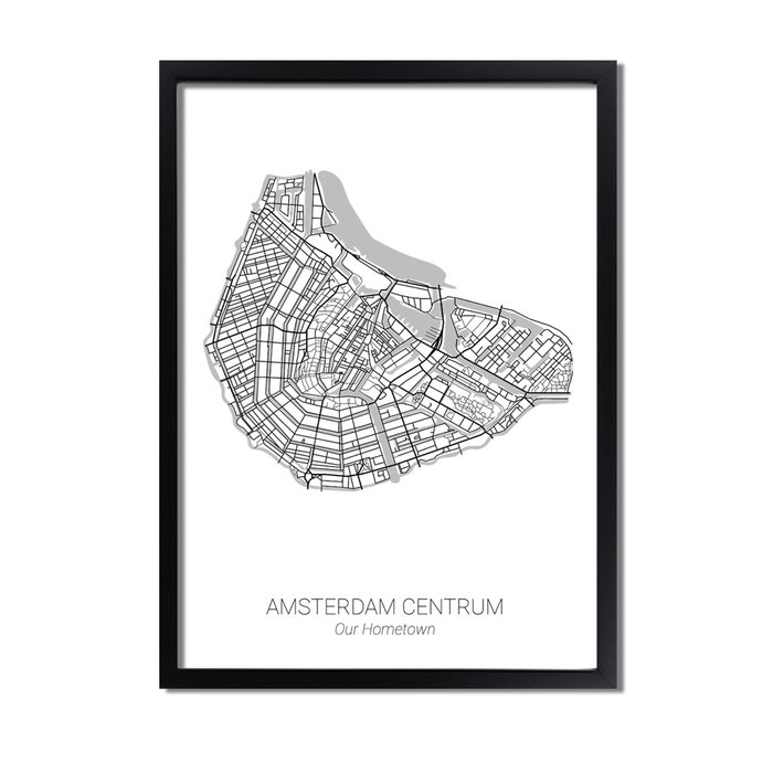Gepersonaliseerde stadskaart poster