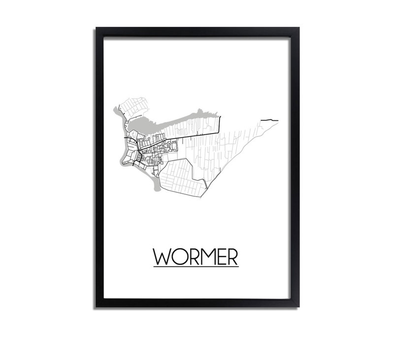Wormer Plattegrond poster