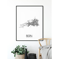 Bern Plattegrond poster