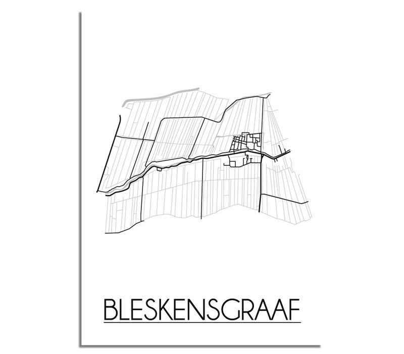 Bleskensgraaf Plattegrond poster