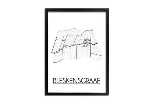 DesignClaud Bleskensgraaf Plattegrond poster