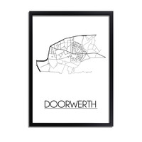 Doorwerth Plattegrond poster